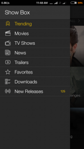 showbox premium categories